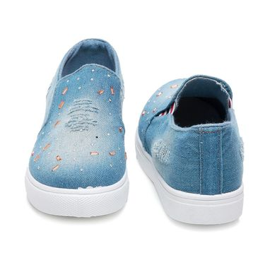 Denim Light Blue Womens Moccasins -ts05