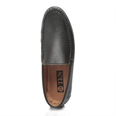 Ten Black Synthetic Leather Loafers -mtj28