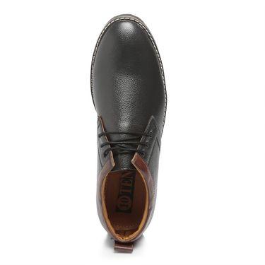 Ten Black Leather Casual Shoes -mtj22