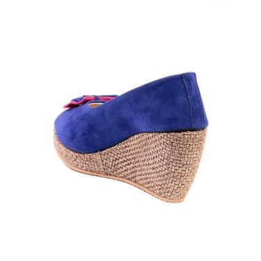 Ten Suade Leather 244 Wedges & Platforms - Blue