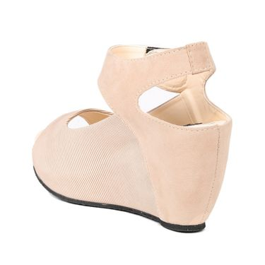 Ten Denim Beige Wedges -ts11