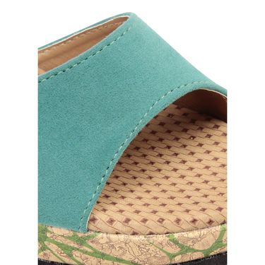 Ten Suede Green Sandals -ts205