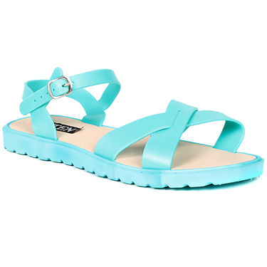 Ten PVC Green Sandals -ts312