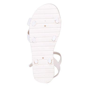 Ten PVC White Sandals -ts313