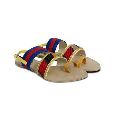 Ten  Suede Blue Sandals -ts226