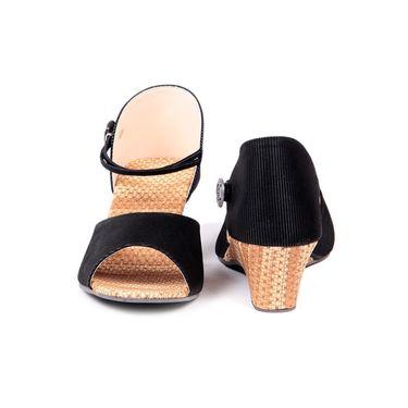 Ten Fabric Black Sandals -ts86