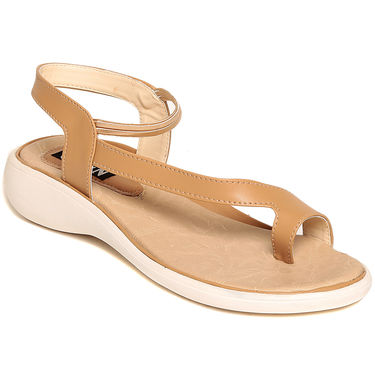 Ten Leather Beige Sandals -Tensantb-546Beg01