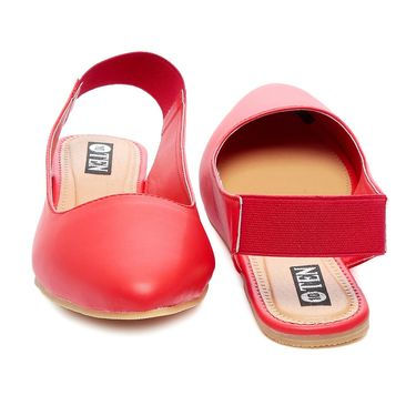 Synthetic Leather Peach Womens Bellies -ts04