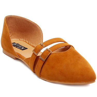 Suede Leather Tan Womens Bellies -ts08