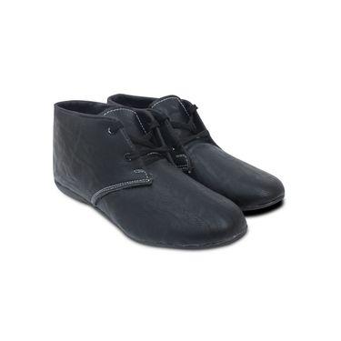 Ten  Artificial Leather Black Canvas Shoes -ts227