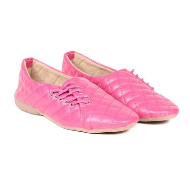 Ten Synthetic Leather Pink Womes Sports Shoes -ts314
