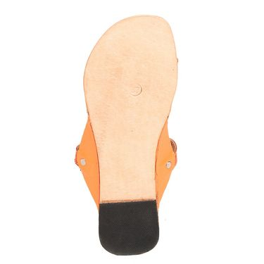 Womens Ethnic Slippers tj18 -Orange