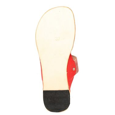 Womens Ethnic Slippers tj30 -Red