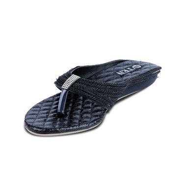 Ten Synthetic Black Flats & Slippers -ts47