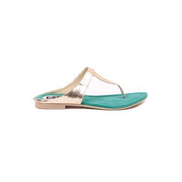 Ten Synthetic Green Flats & Slippers -ts204
