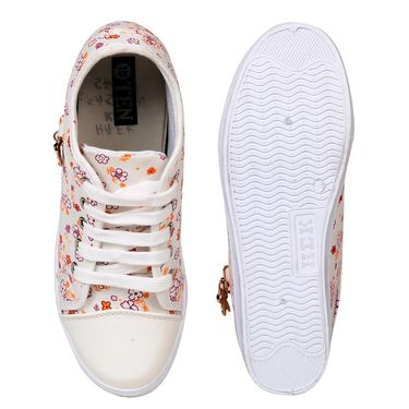 Ten Canvas White Sneakers -ts337