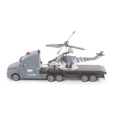 The Flyer's Bay Combo of Helicopter & Truck (Grey)