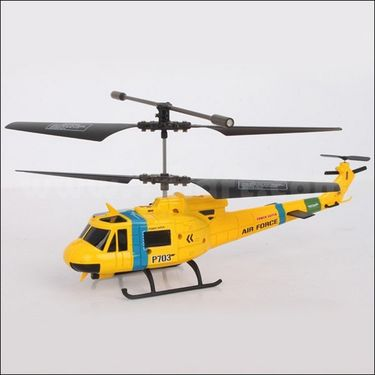 Combo of Army Edition 3.5Ch Helicopter & 4Ch RC Truck - Yellow
