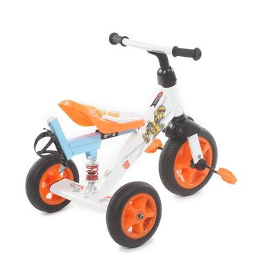 Troopers Super Tricycle With Shock Absorbers - White and Blue