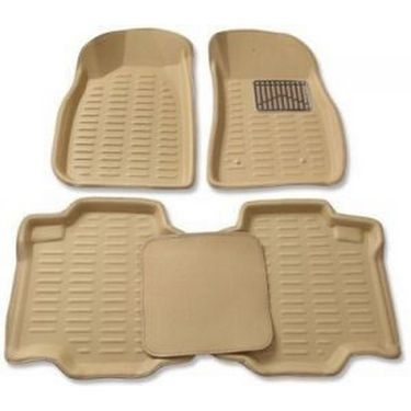 3D Foot Mats for Maruti Suzuki new Wagon R Stingrey Beige Color-TGS-3D beige 89