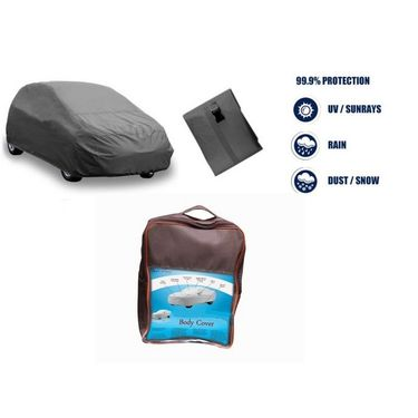 Hyundai old Santro Car Body Cover  imported Febric with Buckle Belt and Carry Bag-TGS-G-WPRF-58