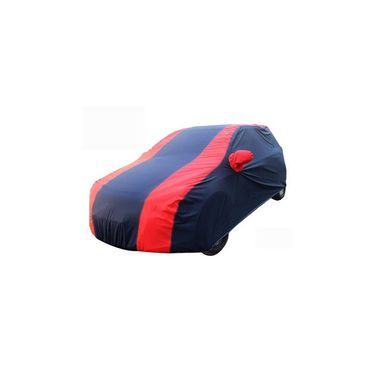Mahindra Thar Car Body Cover Red Blue imported Febric with Buckle Belt and Carry Bag-TGS-RB-73