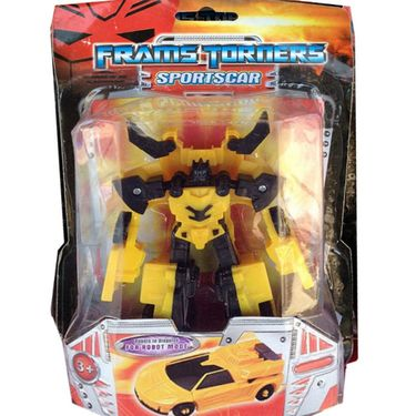 Transformers Autobot Yellow Convertible in Car