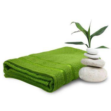 Storyathome Green Cotton Ladies Bath Towel-TW1203-L