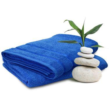 Story@Home Set of 2 Pcs Bath Towel 100% Cotton-Blue-TW1204-2X