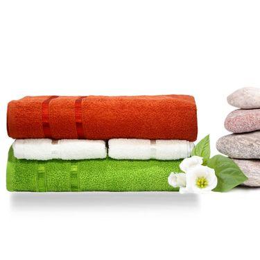 Story@Home 4 Pcs Premium Towel Combo 100% Cotton-Multicolor-TW12_05X-01M-03X