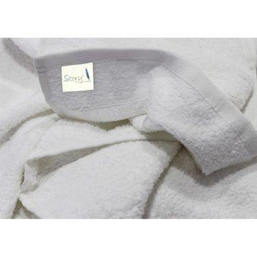 Story@Home Combo of 12 Pcs Bath & Face Towel 100% Cotton-White-TW12_2-01X_1-01S