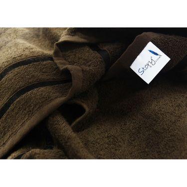 Story@Home Combo of 12 Pcs Bath & Face Towel 100% Cotton-Brown-TW12_2-08X_1-08S