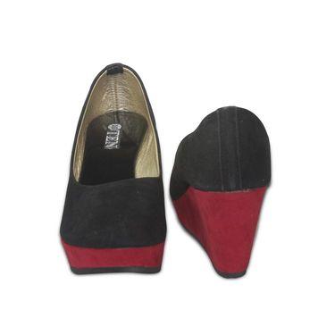 Ten Suede Leather Pumps For Women_tenbl093 - Black