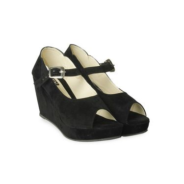 Ten Suede Pumps For Women_tenbl111 - Black