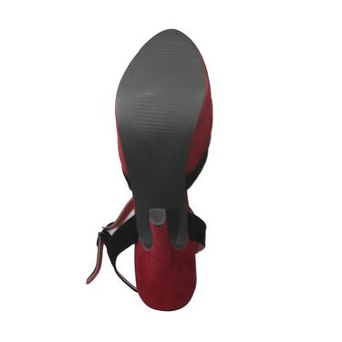 Ten Suede Leather Stilettos For Women_tenbl119 - Red
