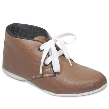 Ten Faux Leather Casual shoes For Women_tenbl160 - Brown