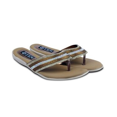 Ten Synthetic Sandals For Women_tenbl171 - Brown
