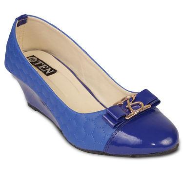 Ten Faux Leather Bellies  For Women_tenbl201 - Blue