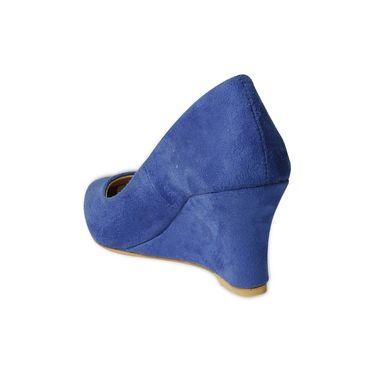 Ten Suede Wedges For Women_tenbl206 - Blue