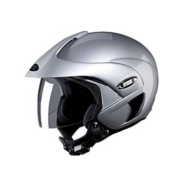 Studds - Open Face Helmet - Marshall (Silver Grey) [Large - 58 cms]