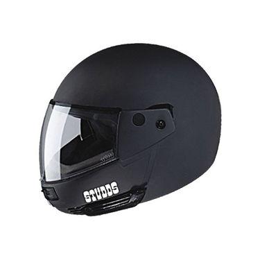 Studds - Full Face Helmet - Ninja Pastel Plain FlipUp (Matte Black) [Extra Large - 60 cms]