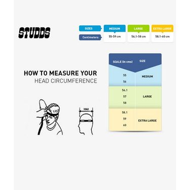 Studds - Full Face Helmet - Shifter (Matt Black)[Large - 58 cms]