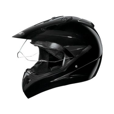 Studds - Full Face Helmet - Motocross Plain (Black) [Large - 58 cms]