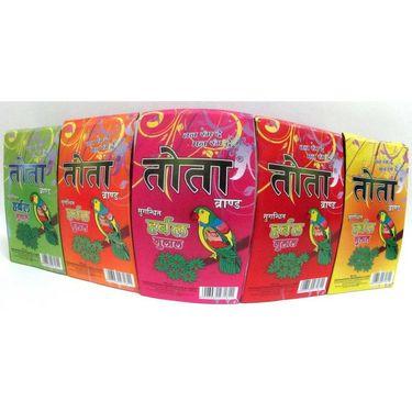 Tota Pack Of 10pcs Herbal Gulal + Gift Pack 100 Gms