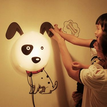 3D Cartoon Spotted Dog Style Wall Stickers Night Lamp-ULWLS-DOG