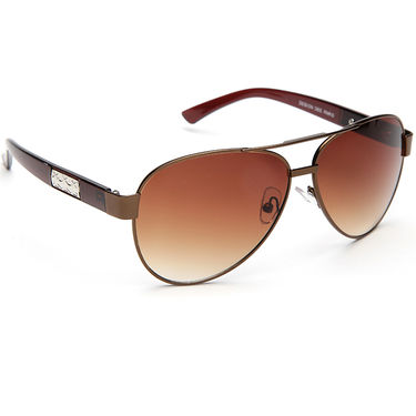 Alee Metal Oval Unisex Sunglasses_147 - Brown