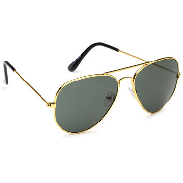 Alee Metal Oval Unisex Sunglasses_130 - Green