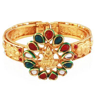 Variation Godess Sarsvati Design Gold Plated Bangle_Vd13752