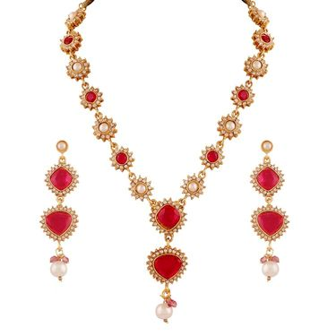 Combo of 10 Variation Nacklace Sets + 3 Chain Pendant Sets + 1 Pair of Anklet + 1 Kada_Vd14056