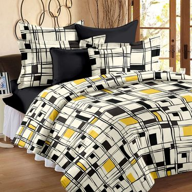Storyathome 100% Cotton Double Bedsheet With 2 Pillow Cover-VL1208